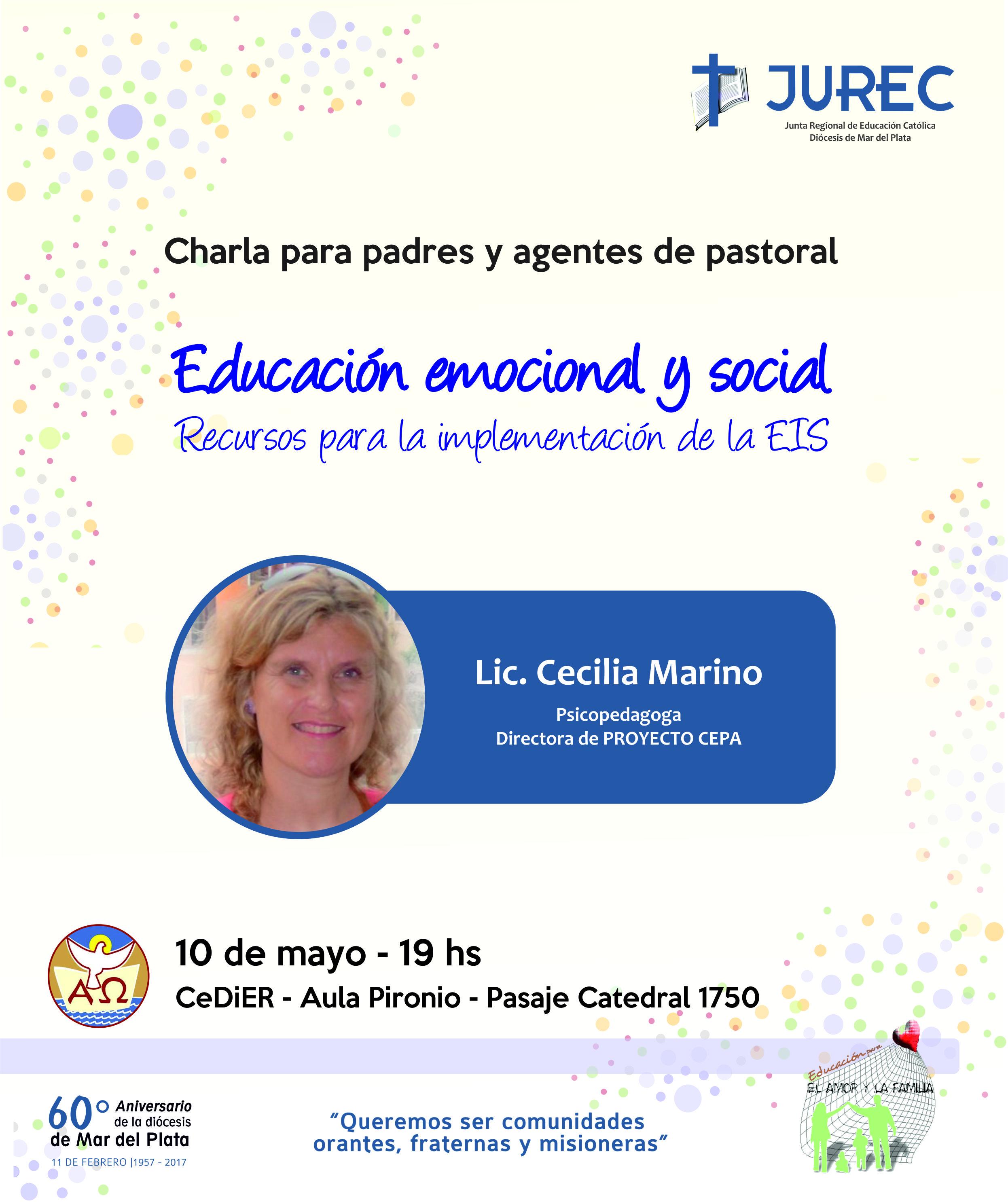 Charla para padres, docentes y agentes de pastoral sobre «Educación emocional y social»