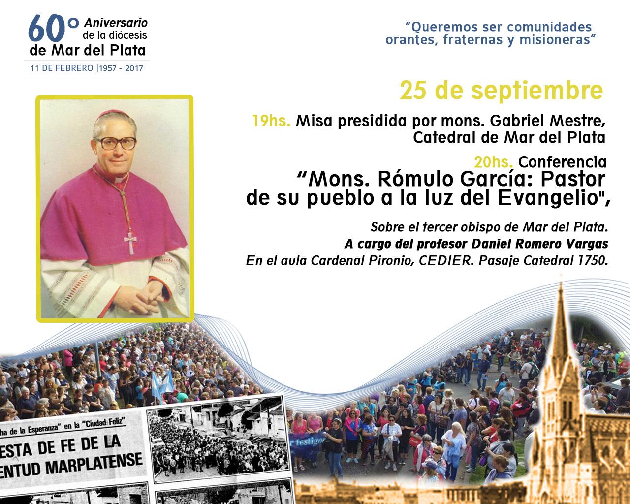 Se realizará una charla sobre monseñor Rómulo García