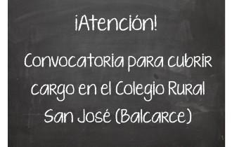 Convocatoria para cubrir cargo en el Colegio Rural San José (Balcarce)