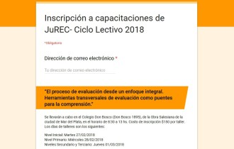 Continúa abierta la inscripción a las capacitaciones de inicio del Ciclo Lectivo 2018