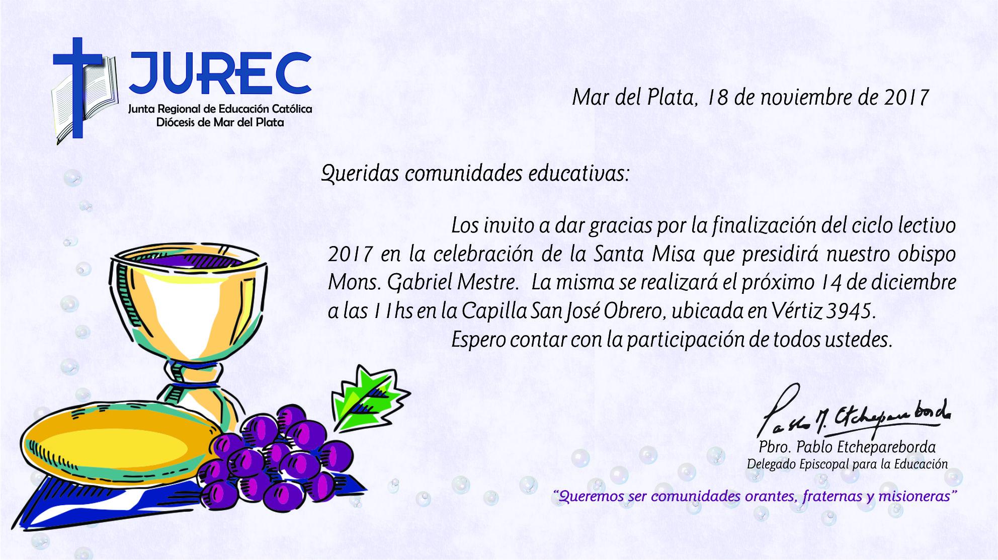 Misa de cierre de Ciclo Lectivo 2017