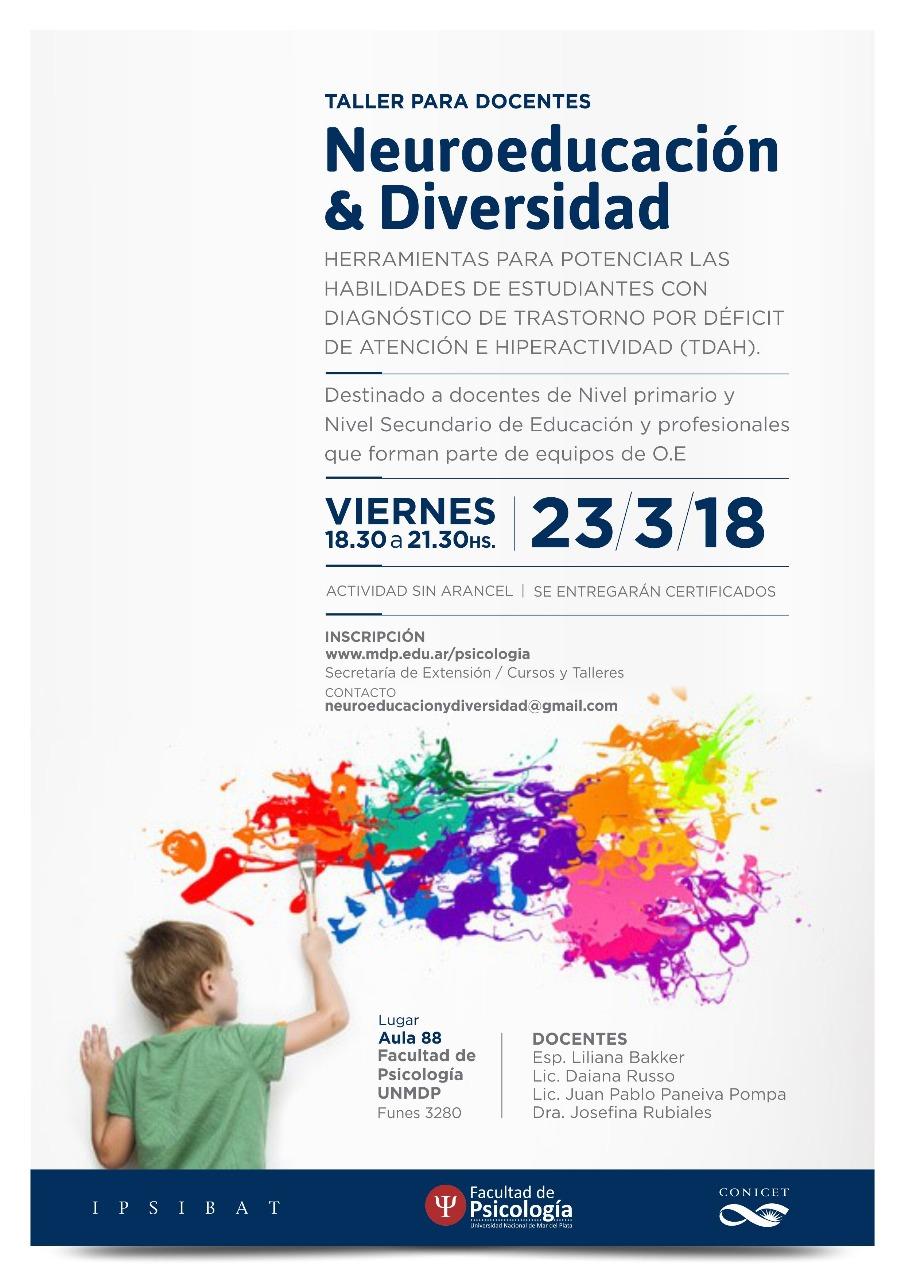 Taller para docentes – Neuroeducación y Diversidad: Facultad de Psicología UNMDP
