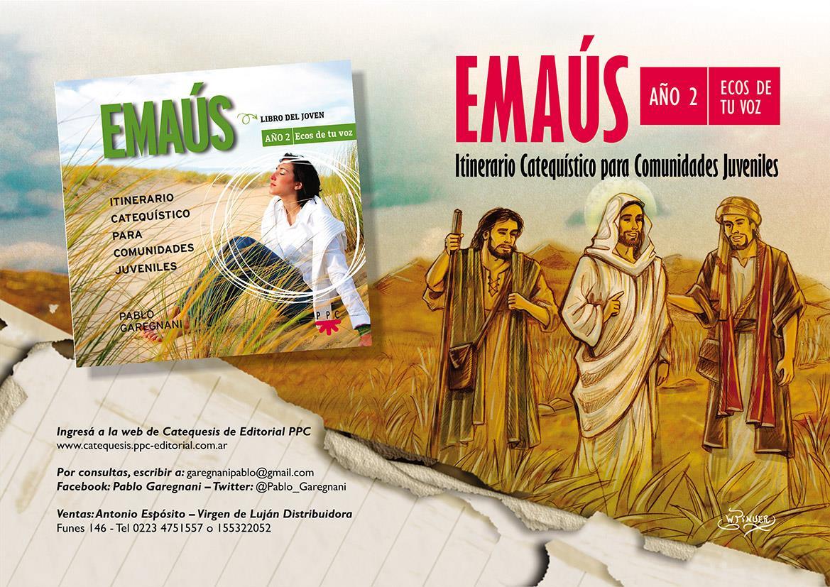 Pablo Garegnani presenta el libro «Emaús. Año 2. Ecos de tu voz»