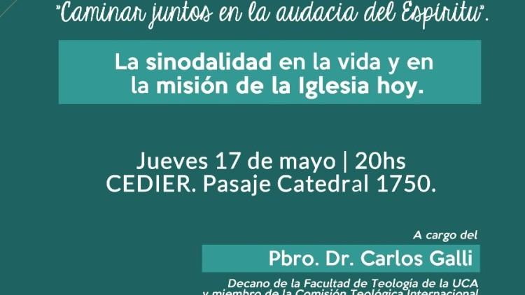 Conferencia en el Cedier sobre Sinodalidad