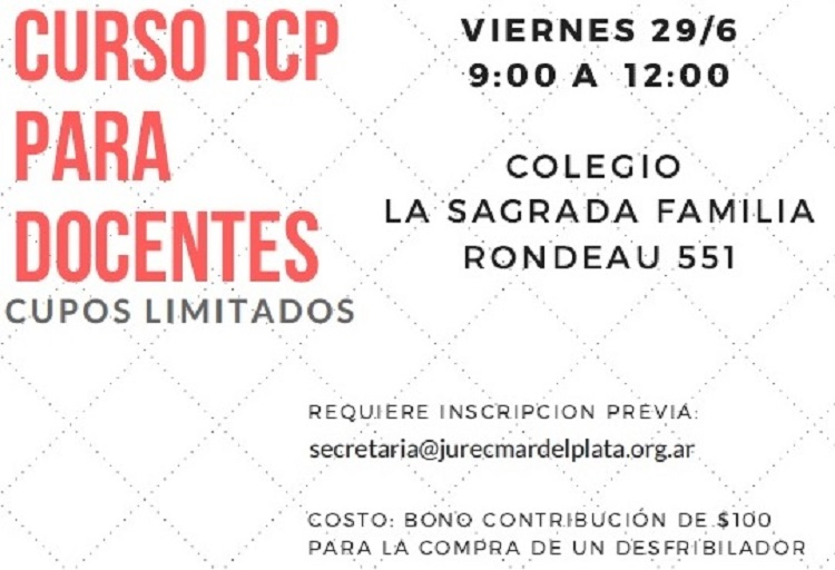29/6: Curso de RCP para docentes