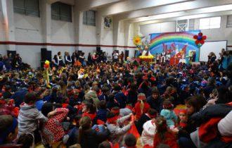 Los mas chicos participaron de la Fiesta de la Fe junto al obispo