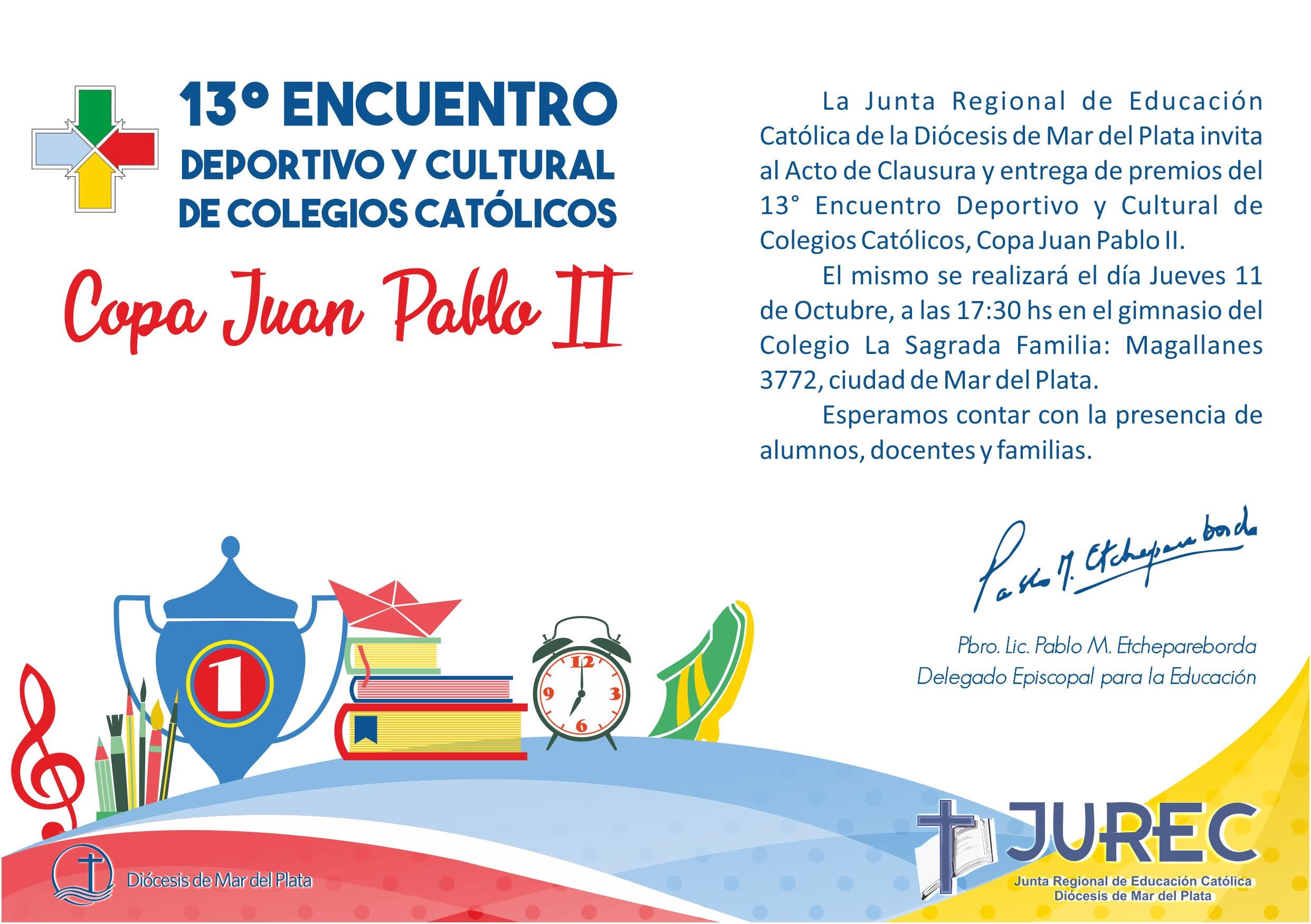 Clausura del Encuentro Deportivo y Cultural 2018