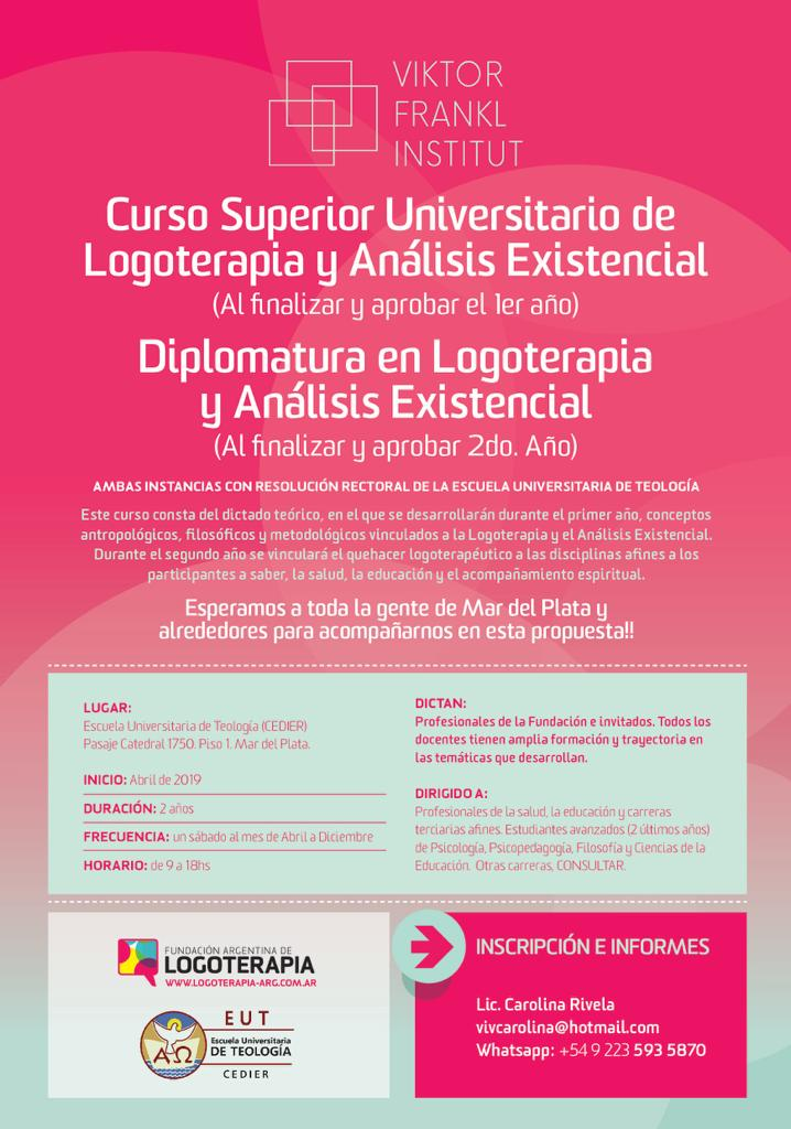 Curso superior universitario de logoterapia y análisis existencial