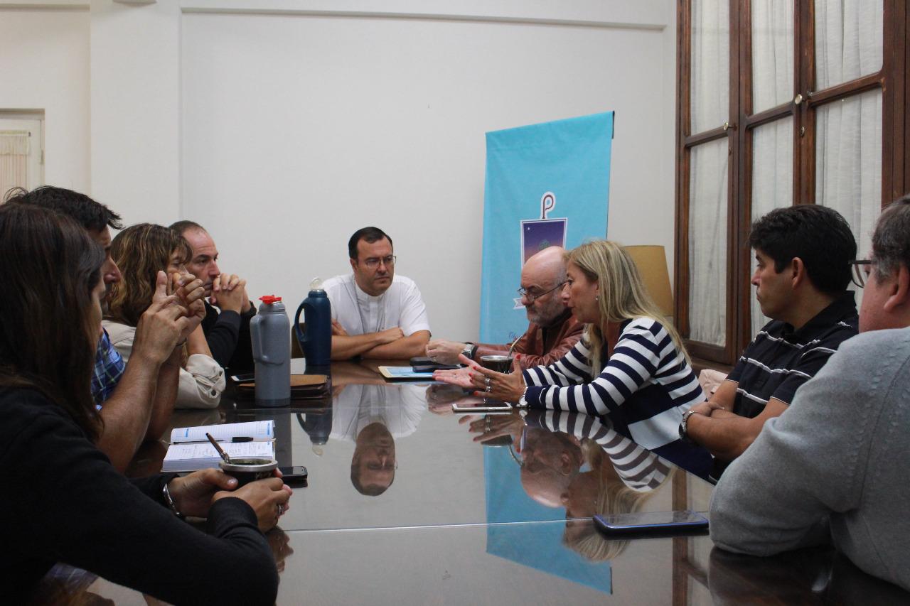 El obispo de Mar del Plata se reunió con autoridades del Sindicato Argentino de Docentes Privados