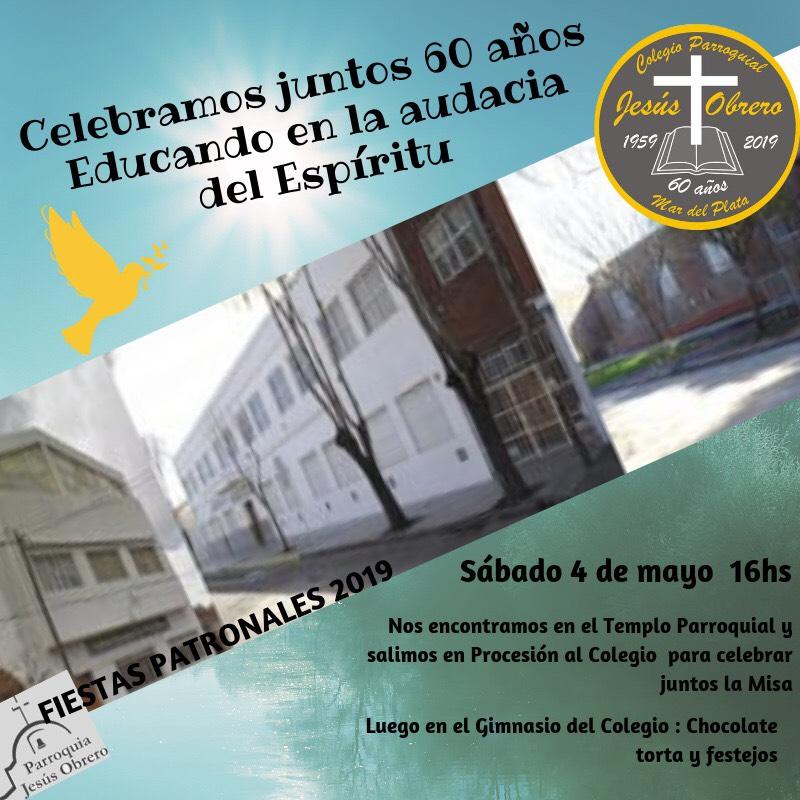 El Colegio Parroquial Jesús Obrero cumple 60 años