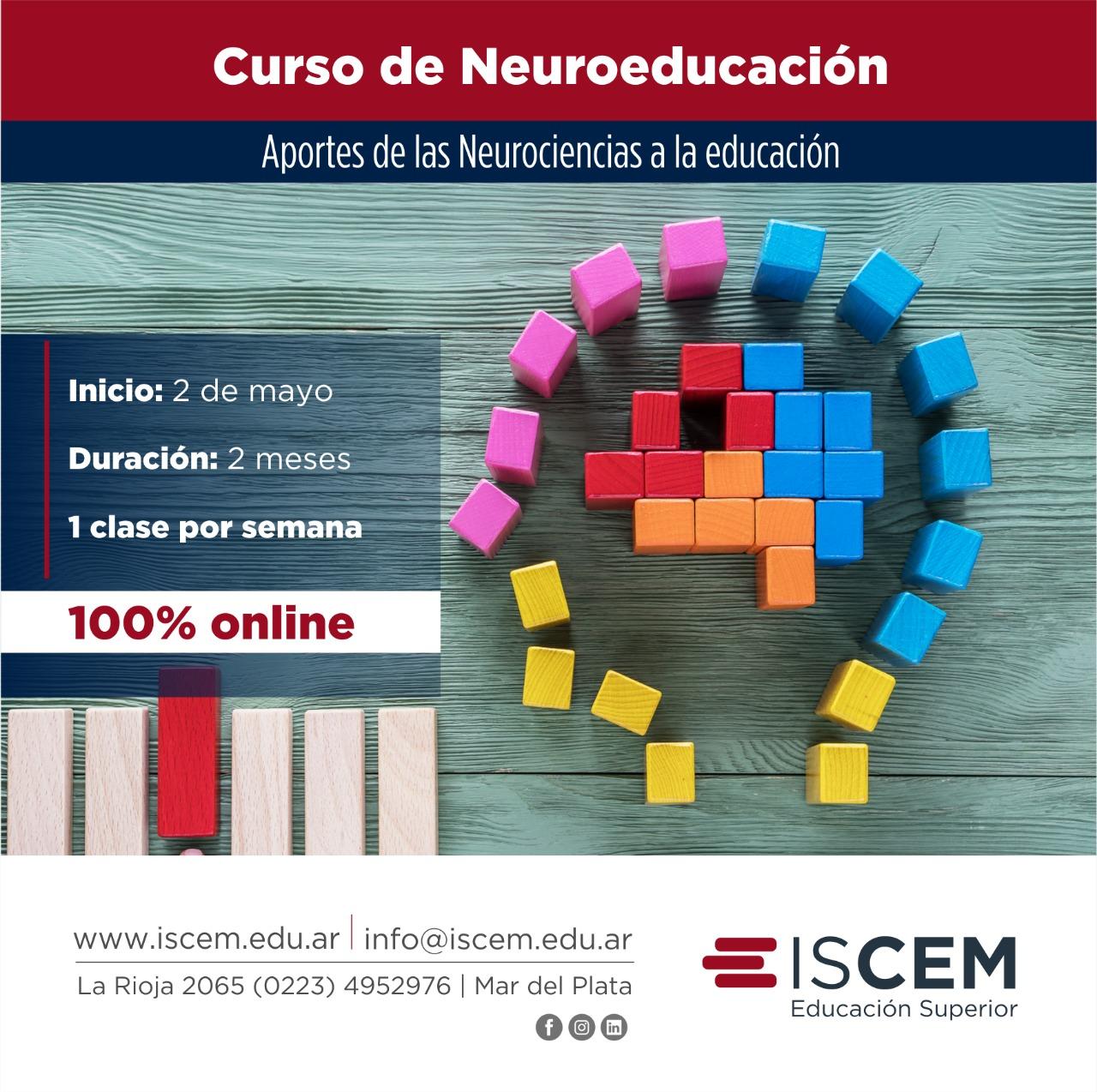 Curso de Neuroeducación: Aportes de las Neurociencias a la educación