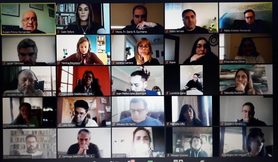 Encuentro virtual de JuREC con directivos de secundaria