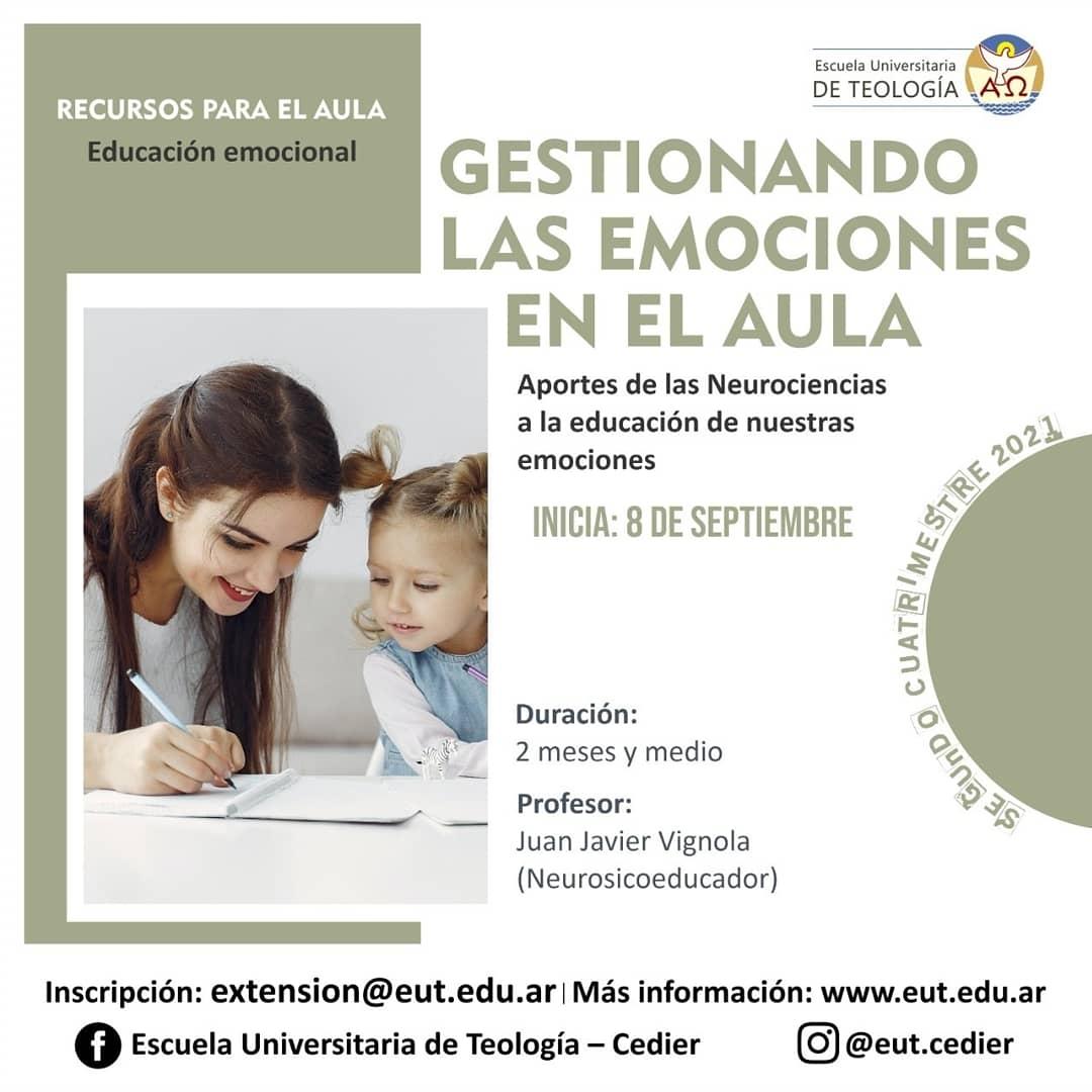 """Curso virtual: """"Gestionando las emociones en el aula"""""""